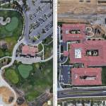 Size comparison between the Deer Ridge Club House and Westmont, a 131 unit assisted care facility.  Screen shots from Google maps, adjusted to the same scale.