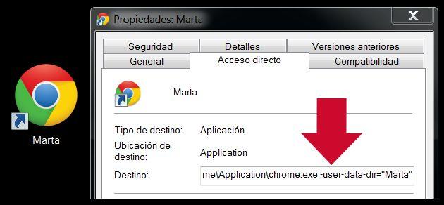 Crear un perfil en Google Chrome
