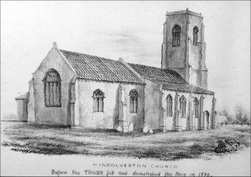 church churches drawing village st george hindolveston ladbrooke before