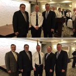 Rep Kafka and Rep Timilty with Chief Wright (Sharon)