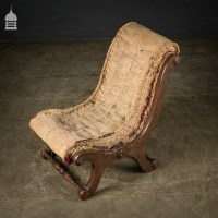 Original Victorian Childs Lounge Chair with Scrolls Ready