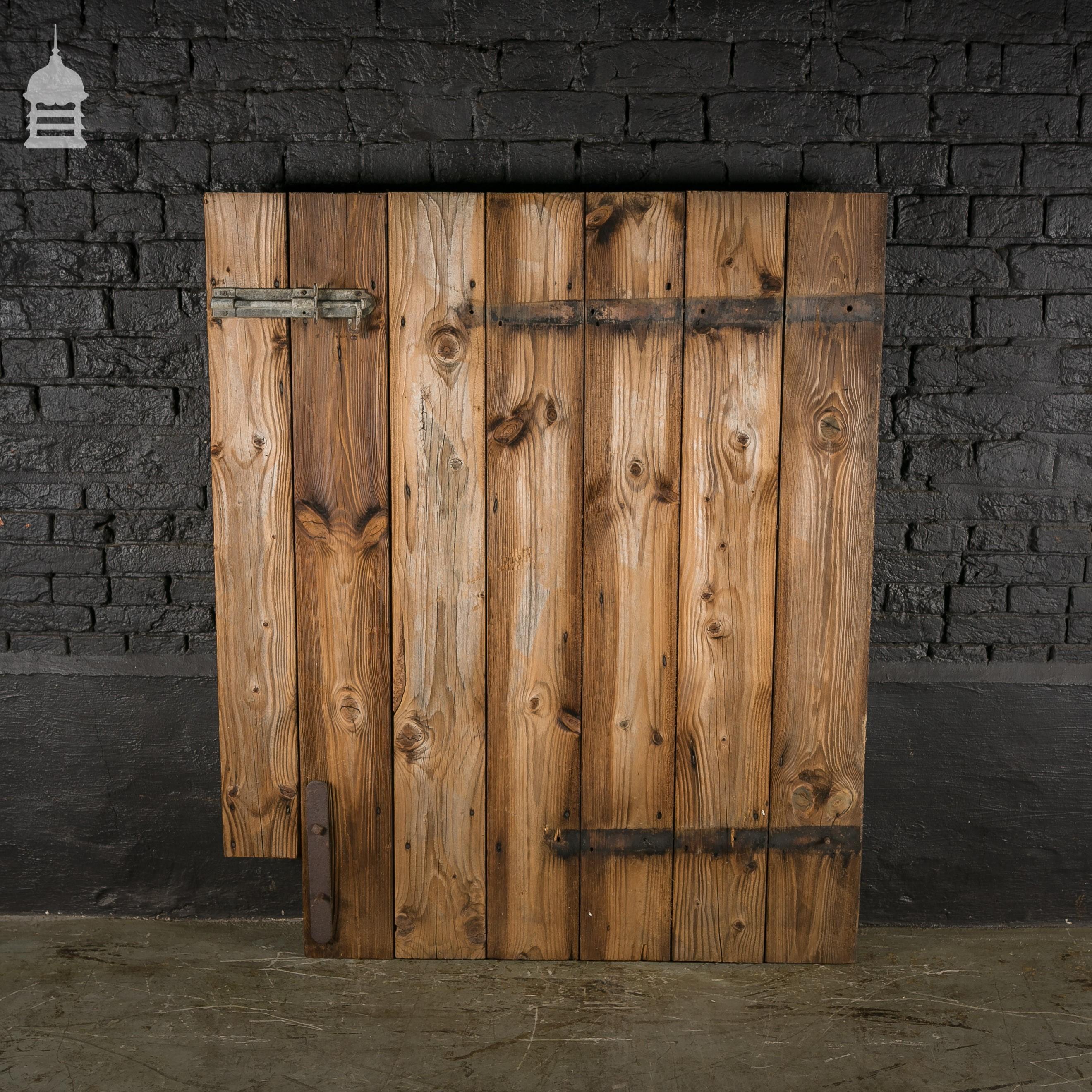 Rustic Pine Ledged and Braced Barn Door