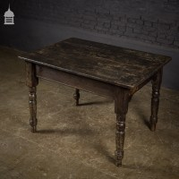 Victorian Pine Kitchen Table with Dark Scumble Finish and ...