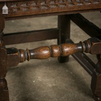 18th C Oak Chair with Ornate Hand Carved Detail and Single ...