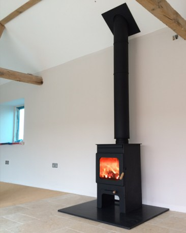 Burley Hollywell on Stand with a Polished Granite Hearth