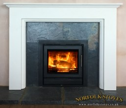 Stovax Riva Cassette, Multi-fuel stove with a 3 sided frame