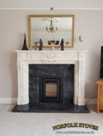 Di Lusso R4 Inset Wood Burner with classic surround