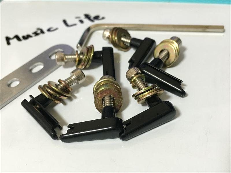Power Pins パワーピン Black Chrome ブラック クローム パワーピン Power Pins アコギ用が高音・音量とサステインが増えてオススメ! 装着方法 7500円