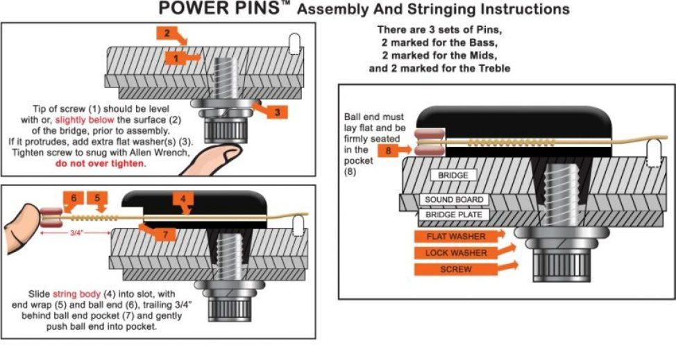Power Pins パワーピンの装着方法 パワーピン Power Pins アコギ用が高音・音量とサステインが増えてオススメ! 装着方法 7500円