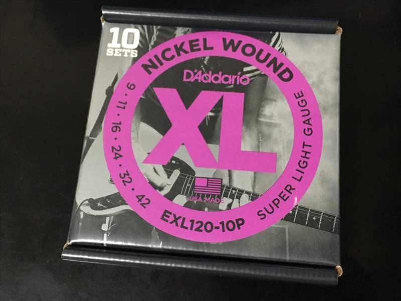 EXL120 DADDARIO ( ダダリオ ) 09-42  560円 DARCO D9300 エレキギター弦 500円、真空パック ダダリオ ESXL110、EXL120、EXL110、EXL120+!