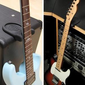 アンプをギタースタンドの代わりにすることもできます。