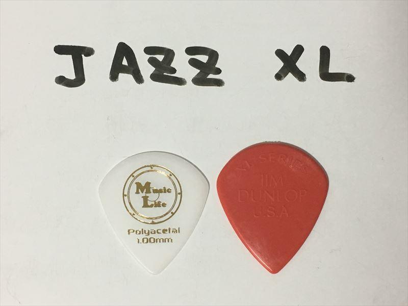 JAZZ XL ポリアセタール 1.00mm 1枚50円 ポリアセタールピック 1枚50円 JAZZ XL・JAZZ3サイズ 人気のため4000枚を再発注・再入荷しました!【MLピック】