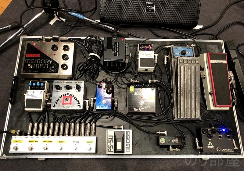 田中義人さんのエフェクター Bambasic D.A-project D.A-Booster BOSS【最新】ギタリスト田中義人さんのエフェクターボードを解析!ギターを支える機材の数々!