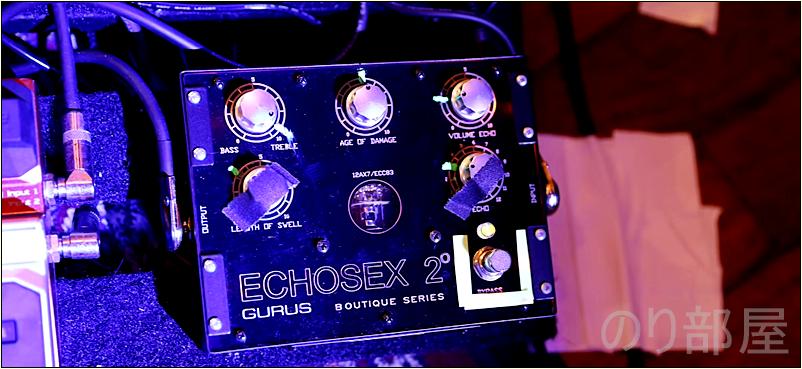 Gurus Amp Echosex 2【スティーブルカサー本人使用画像】【本人使用写真】Steve Lukather(スティーヴ・ルカサー)のエフェクターボード・機材を解析!ツマミ・ノブの位置も分かる!ギターを支える機材の数々を紹介!【金額一覧】