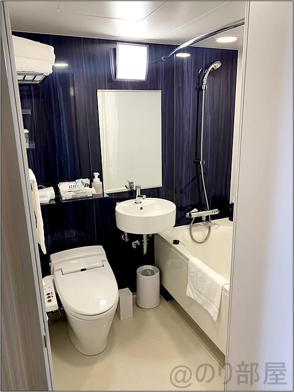 リッチモンドホテルの部屋・客室のバスルーム・トイレはこちら! リッチモンドホテルプレミア東京押上の部屋がキレイでオススメ!スカイツリーが近くスーパーも近く快適!【評価・口コミ】