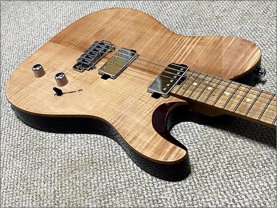 Harley Bentonのギターのカッタウェイ部分はハイフレットが弾きやすい Harley Bentonのギターが圧倒的に良い!安くてコスパが良すぎました。【Fusion-T HH Roasted FNT Guitar】