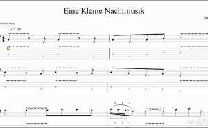 【TAB】Eine Kleine Nachtmusik - Mozart をギターで絶対弾ける練習方法。有名なアイネ・クライネ・ナハトムジークを弾いてみよう。【Guitar Paul Gilbert ver】