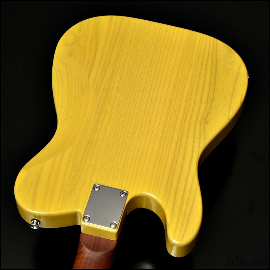 Bacchus TACTICS-ASH/RSM 22フレットP90のテレキャスっぽいヴィンテージルックスで演奏性が高いモデル!ローステッドメイプルも最高!Bacchusから「24f・2ハム仕様」「22f・P90仕様」のローステッド&ステンレスフレットのギターが登場!安くてハイクオリティ!