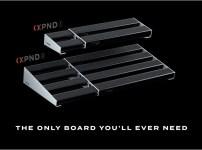 ダダリオ XPND エフェクターボードは1列タイプ(XPND1)と2列タイプ(XPND2)の2種類とサイズ ダダリオ XPND ペダルボードがスゴイ! エフェクターボードを伸ばせて伸縮自在で便利でオススメ!【D'Addario XPND Pedalboard】