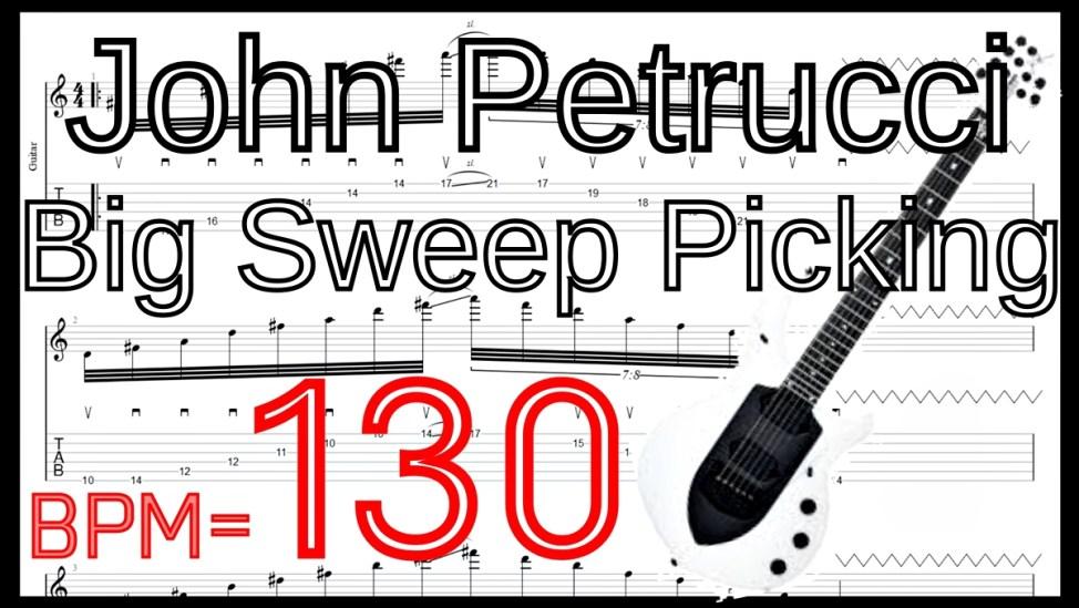 【動画】ジョン・ペトルーシの大型6弦スウィープピッキングの練習動画のBPMを細かく分けた動画 ジョン・ペトルーシの大型6弦スウィープピッキングを練習して上手くなる!【ギター】【TAB】ジョン・ペトルーシのギターのオススメ練習方法。速弾き・フルピッキング、スウィープ、タッピング、レガートなどバランスよく練習できます!