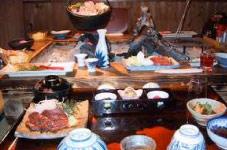 乗鞍高原温泉しろいこやの料理の一例