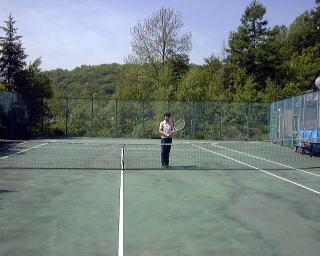 ペンションサウスコルのテニスコート