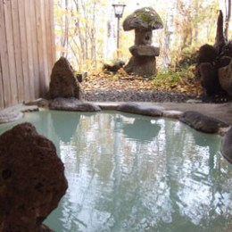 滝見館の露天風呂
