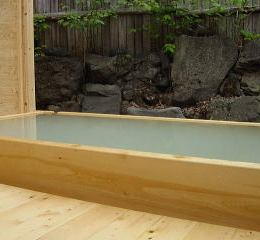 牧水苑の露天風呂
