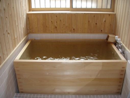 1日1組の宿佐の屋の浴室