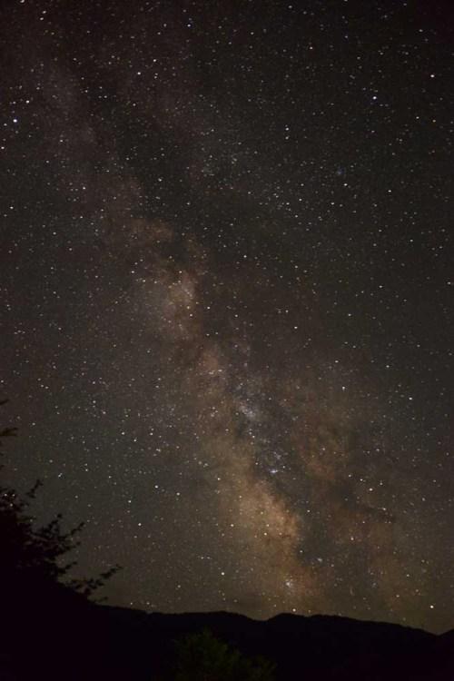 信州乗鞍高原温泉 緑山荘からの星空