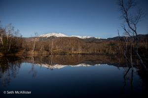 一の瀬園地 まいめの池と乗鞍岳