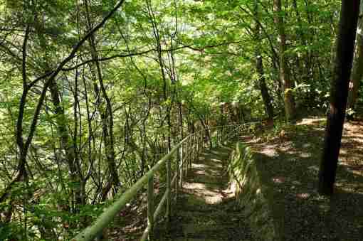 番所大滝 滝見台への道