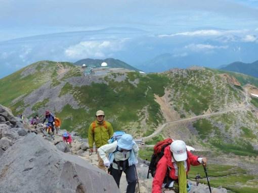 剣ヶ峰登山道