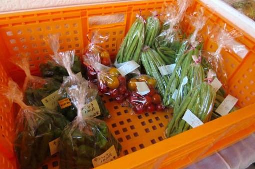 ばんどこ朝市の地元野菜たち