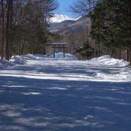 冬の梓水神社2