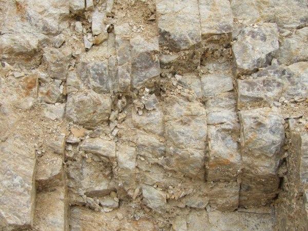 風化岩 モルタル吹付