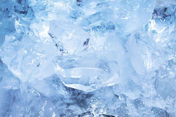 氷でアイシング