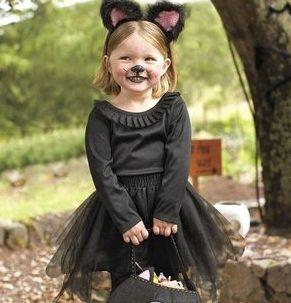 ハロウィン 子供 大人 仮装 簡単 安い チュチュ 黒猫 女の子 男の子