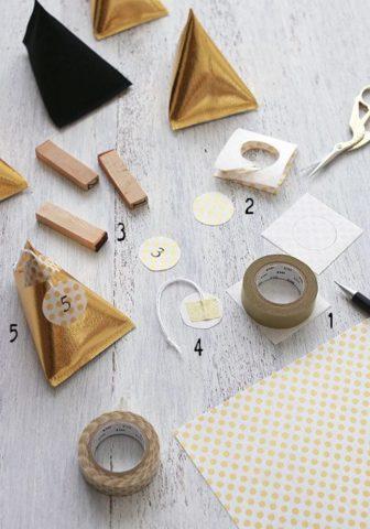 クリスマスツリー手作りおしゃれオーナメント100均折り紙テトラ