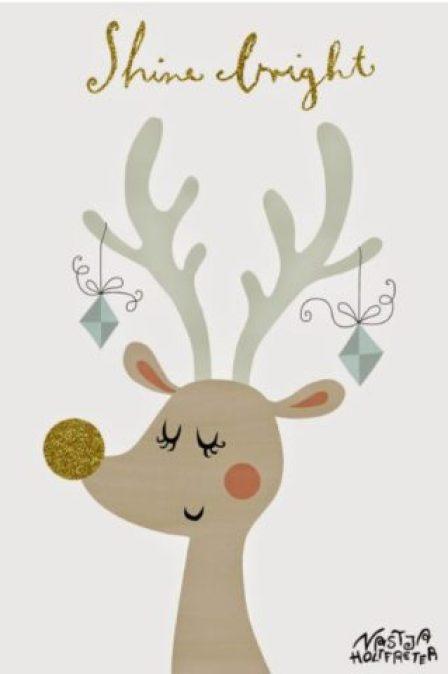 クリスマスカード簡単手作り彼氏におしゃれカードや飛び出す可愛いカードトナカイ