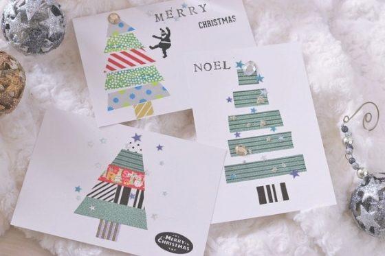 クリスマスカード簡単手作り彼氏におしゃれカードや飛び出す可愛いカードデコシール