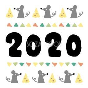 年賀状2020無料テンプレート和風おしゃれイラスト文字デザイン