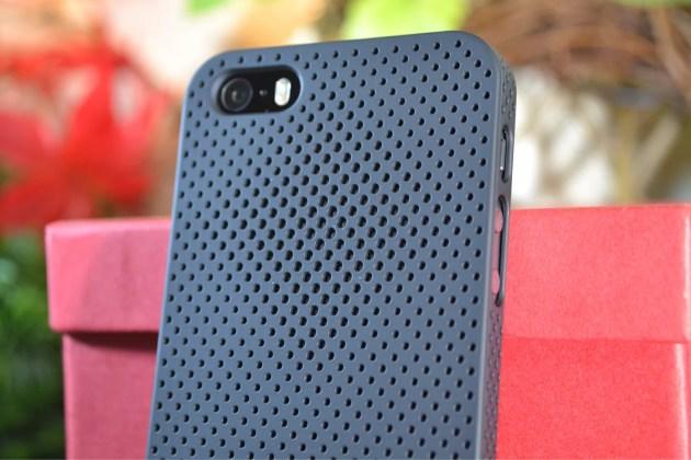 IRUALパンチングデザインiPhone5s用ラバーコーティングケース1