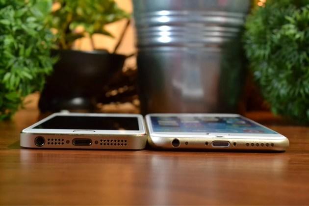 iPhone5sとiPhone6の大きさ比較2