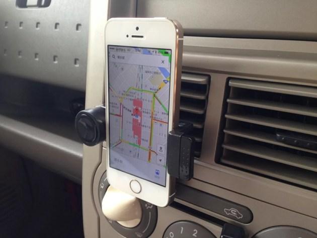 iPhone車載ホルダーをカーエアコンに取り付けてみた1