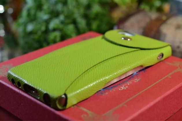 緑のiPhoneレザーケース4