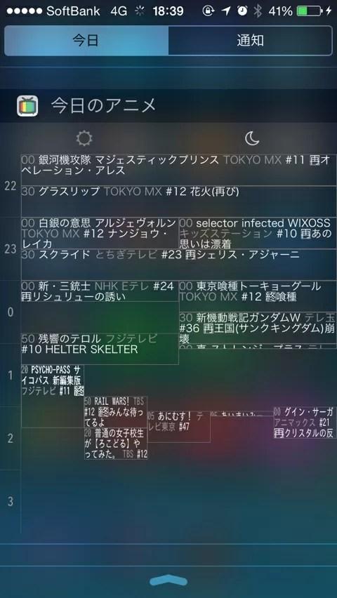 iOS8の通知センターの新機能ウィジェット