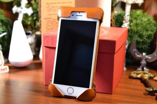 iPhone6ゴールドにabicase装着1