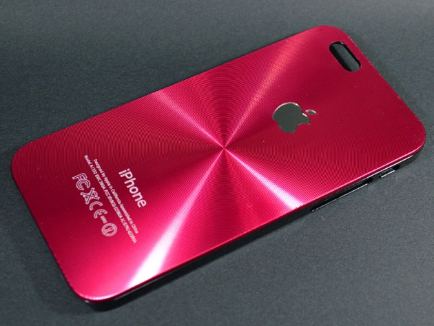 Appleマークの見えるアルミ波紋ケース3