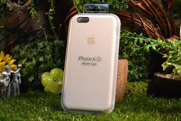 iPhone6s用Apple純正シリコンケースアンティークホワイトレビュー1